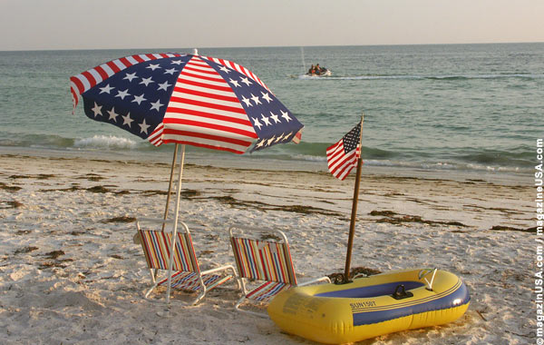 4th of July at the beach in Florida