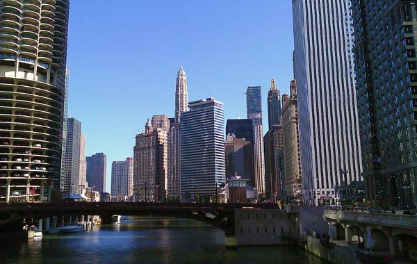 Chicago River and Downtown