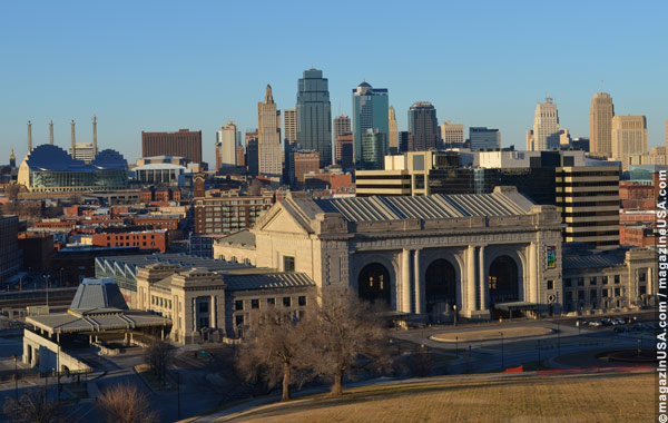 Union Station in the foreground; Kansas City Skyline in the background