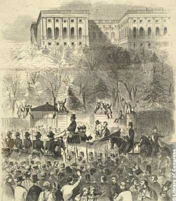 The Inauguration Procession in Honor of President Buchanan Passing through Pennsylvania Avenue, Washington City, March 4th, 1857.