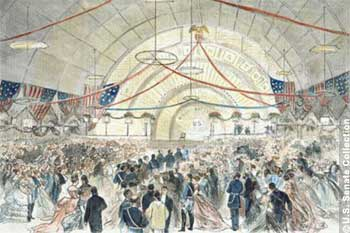 The Inauguration Ball: Arrival of the President's Party, March 4, 1873.