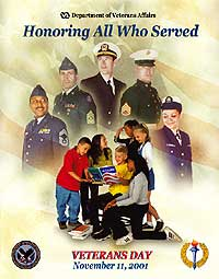 Official Veterans Day Poster (this is the issue 2001). All posters of the past until today can be found on the website of the Department of Veterans Affairs.