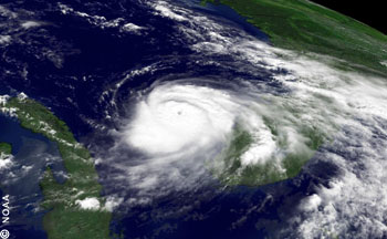 Hurricane Charley at the West Coast of Florida 2004, Cat 4