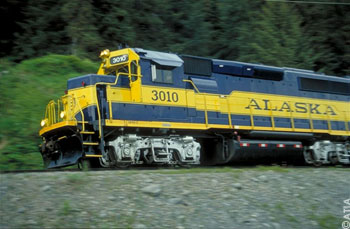 Alaska Railroad along dem Seward Highway