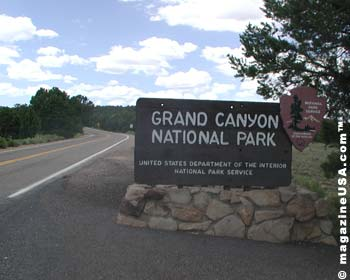 Grand Canyon National Park Welcome Sign