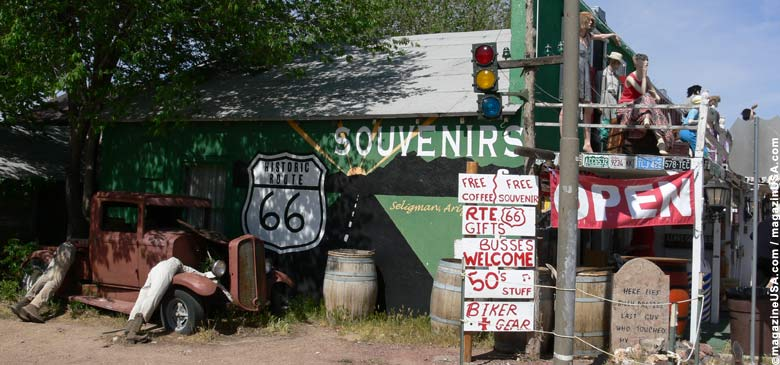 Route 66 bei Seligman, Arizona