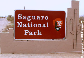 Saguaro National Park Welcome Sign