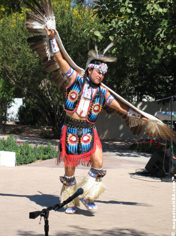 Derrick Davis, World Champion Hoop Dancer.See Davis perform his acclaimed hoop dance on a weekly basis from January - March at Scottsdale's annual Native Trails performances
