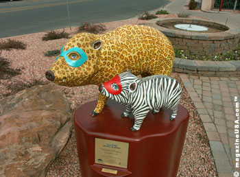 The Javelinas On Parade Event exhibits Life-size, colorful javelinas will on the streets, parks and open spaces of Sedona