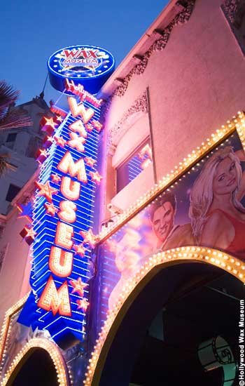 Hollywood Wax Museum Neon Sign
