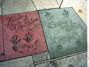 Hand & Footprints of the Stars in front of the Grauman's Chinese Theatre