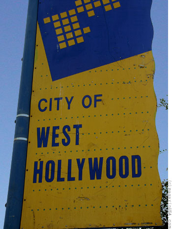 West Hollywood is located midway between downtown Los Angeles and the beach