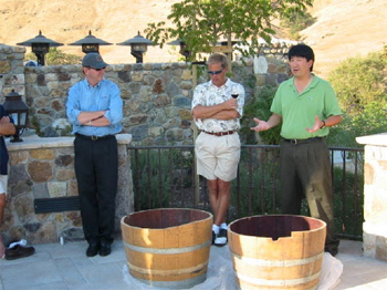 Rick explains the history behind a traditional Grapestomp.