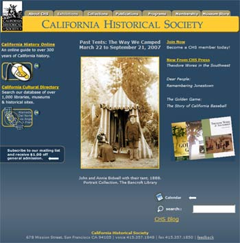 Website California Historical Society