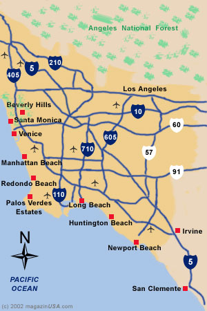 Map Southern California Region L.A.
