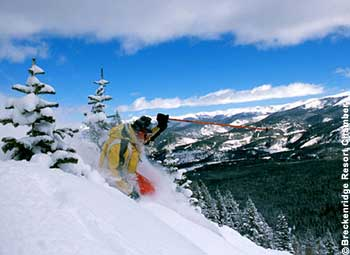 Breckenridge Ski Resort is consistently ranked the top in Colorado and one of the top ten in North America. Skiers and  Snowboarders love riding in the 2,208 acres of terrain especially on those powder days.