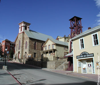 Historic old mining town Black Hawk
