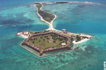 Fort Jefferson on Garden Key in Dry Tortugas National Park
