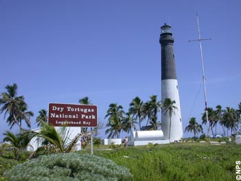 Historic Lighthouse at Loggerhead Key in Dry Tortugas National Park.