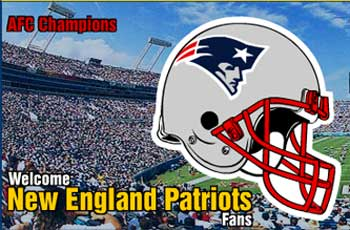 Welcome New England Patriots