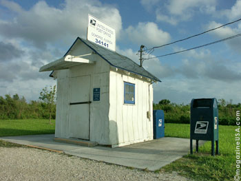 The smallest? active post office in the United States. Located along the Tamiami Trail between Miami and Tampa