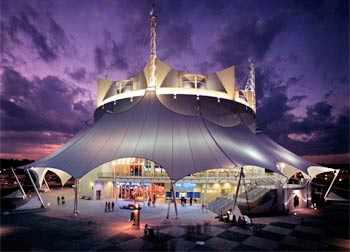 The Cirque du Soleil theater in Downtown Disney