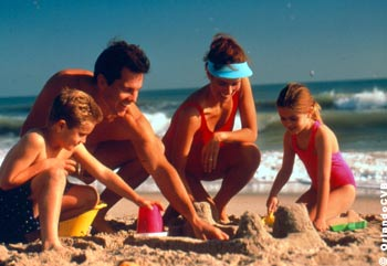 Sun-drenched beaches with refreshing water are within an hour's drive from Orlando.