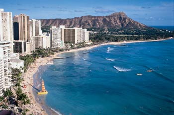 View of Waikiki and Diamond Head