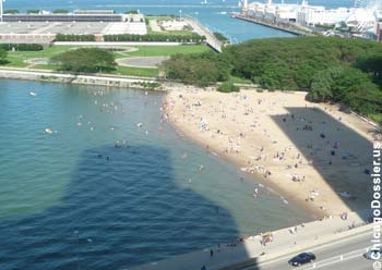 Beach at Ohio Street, near Navy Pier