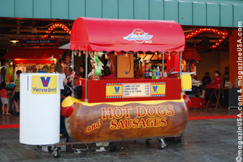 One of the local food traditions is the Chicago hot dog
