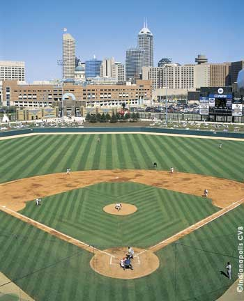Indianapolis Skyline seen from Victory Field