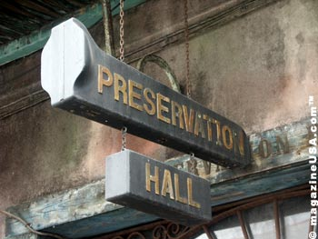 Preservation Hall of Jazz in the French Quarter