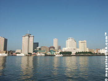 New Orleans Skyline seen from the West Bank of the Mississippi riverew