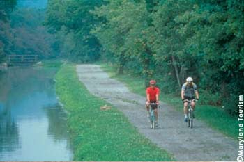 Biking Along the C&O Canal – On July 4, 1828, President John Quincy Adams broke ground for the 184.5-mile Chesapeake and Ohio Canal that now extends from Georgetown in Washington, DC to Cumberland, Maryland. Bikers along the towpath can view original structures including locks, lockhouses and aqueducts.
