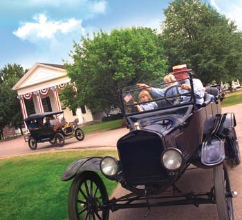 Step back in time and take a ride on a Model T at Greenfield Village.