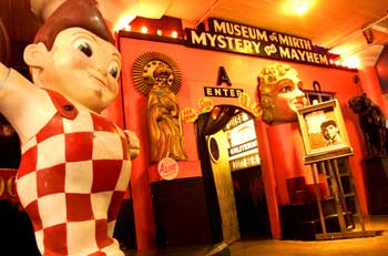 The Museum of Mirth, Mystery and Mayhem within St. Louis' City Museum conveys the innocence, tawdry charms and cheesiness of the carnival midway and eccentric roadside attractions