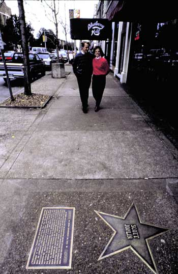 The St. Louis Walk of Fame in the Loop Neighborhood where bronze stars and biographies honor famous St. Louisans.