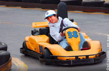 Boy at NASCAR Speedpark, North Carolina