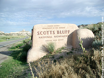 Scotts Bluff rises 800 feet above the North Platte River.
