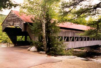 The covered bridge in Albany, New Hampshire