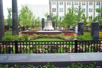 A must-see of Atlantic City attractions, the Civil Rights Garden commemorates the marches toward freedom from slavery and respect for the rights of every human being.