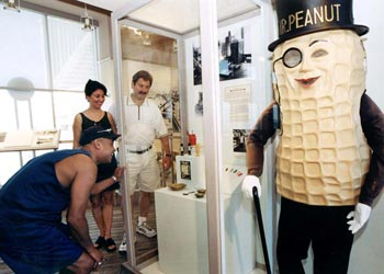 Now housed in the Atlantic City Historical Museum on the Garden Pier, the character Mr. Peanut greeted visitors outside the Planters Peanut store on the Boardwalk for many years.