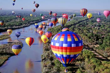 Over 900 balloons float over the skies of Albuquerque