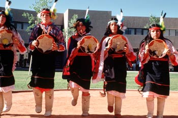 The Indian Pueblo Cultural Center offers a variety of American Indian dances for spectators to view year round