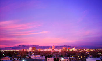 Albuquerque is known for its incredible sunsets. Sandia means watermelon in Spanish, and the Sandia Mountains were named because they often turn shades of pink at sunset.