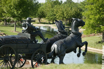 Land Run Statue on the Bricktown Canal