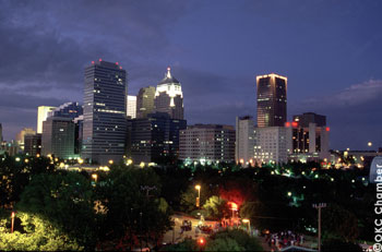 Oklahoma City's Night Skyline