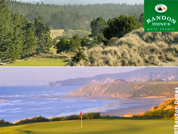 The Bandon Dunes Golf Resort, built atop the cliffs of Oregon's rugged south coast