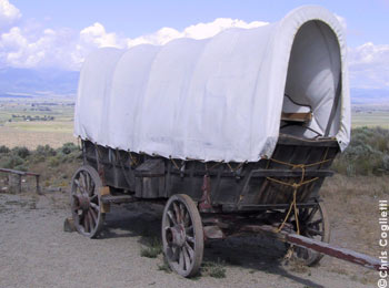 Covered Wagon in Eastern Oregon. This wagon came across the Oregon Trail