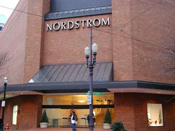 Department Store Nordstrom in downtown Portland.